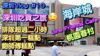 【深圳Vlog】深圳一天遊 海岸城 鮑師傅糕點 桃園眷村 Line Friends Cafe  深圳吃貨之旅