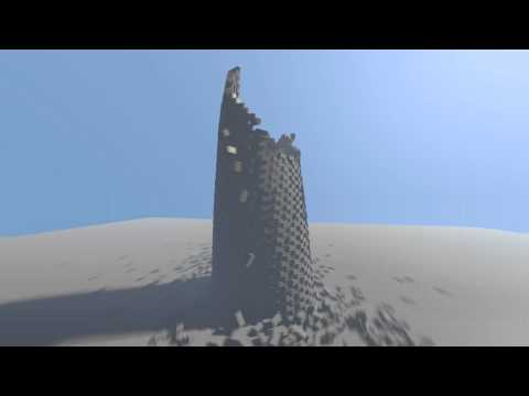 Blender Tower Fall - Physics Simulations