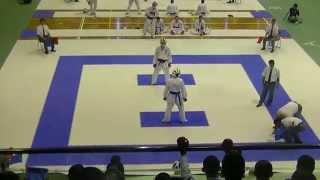H27全国高校総体空手道① 男子団体組手準決勝