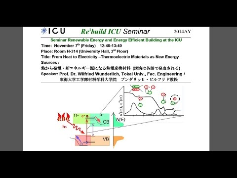 Re3build ICU (07.11.2014): Thermoelectric Materials as New Energy Sources, Prof. W. Wunderlich