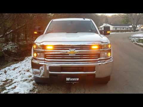 2017 CHEVY SERVICE BODY LED strobe light package from www.WickedWarnings.com