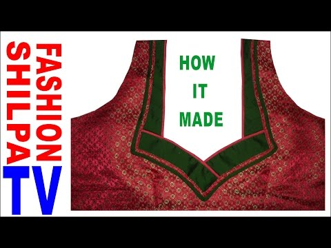 Designer Blouse Cutting And Stitch At Home Diy Youtube