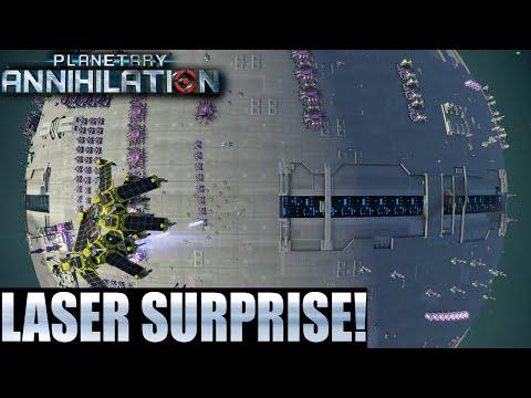 Planetary Annihilation 10 Player FFA - Laser Surprise!