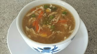 Chicken Hot and Sour Soup Recipe - Homemade Soup