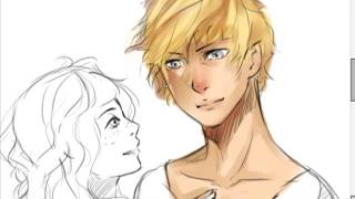 Sketching Jace and Clary - The mortal instruments on SAI