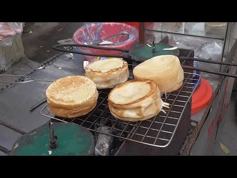 Vietnam Street Food – COCONUT Coin CAKE on Hot Steel - Street Food in Vietnam