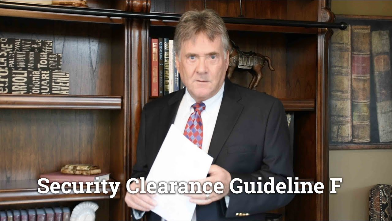 Security Clearance Denial – Guideline F (Financial Concerns