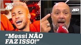 """Festa de Neymar REVOLTA narrador: """"Messi NÃO FAZ ISSO!"""""""