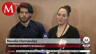 Madre de Norberto Ronquillo da conferencia de prensa