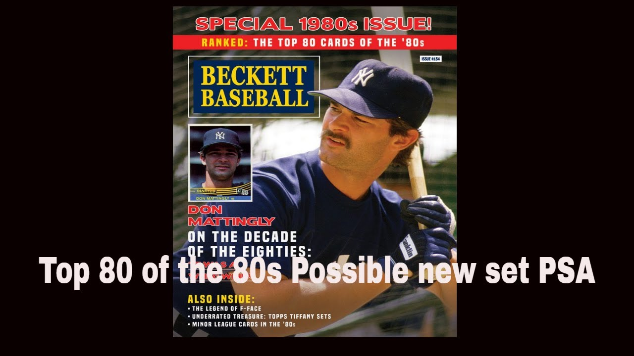 Top 80 Of The 80s Baseball Cards Psa Set Registry Creation Hopefully