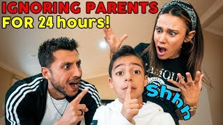 IGNORING MY PARENTS FOR 24 HOURS!! **GONE WAY TOO FAR** | The Royalty Family