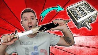 MEGA DOLCH und 4 neue Messer im TEST! - Wollt ihr SCHREDDER EXPERIMENTE?