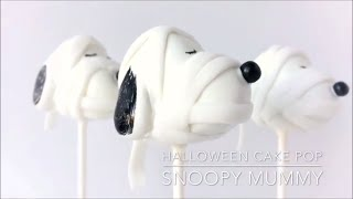 How to Make a Snoopy Halloween Cake Pop