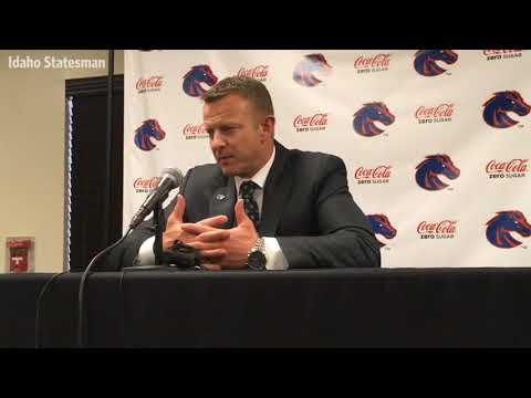 Boise State coach Bryan Harsin on facing Oregon in Las Vegas Bowl