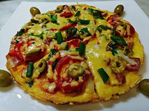 Пицца на сковороде/ Домашняя пицца за 10 минут/ Быстрая пицца на скорую руку без выпечки