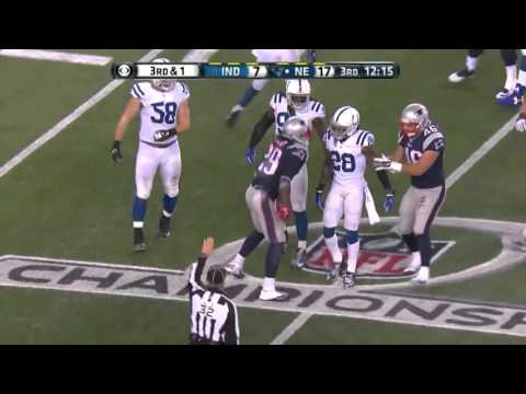 Colts vs 1  Patriots AFC Championship Game highlights