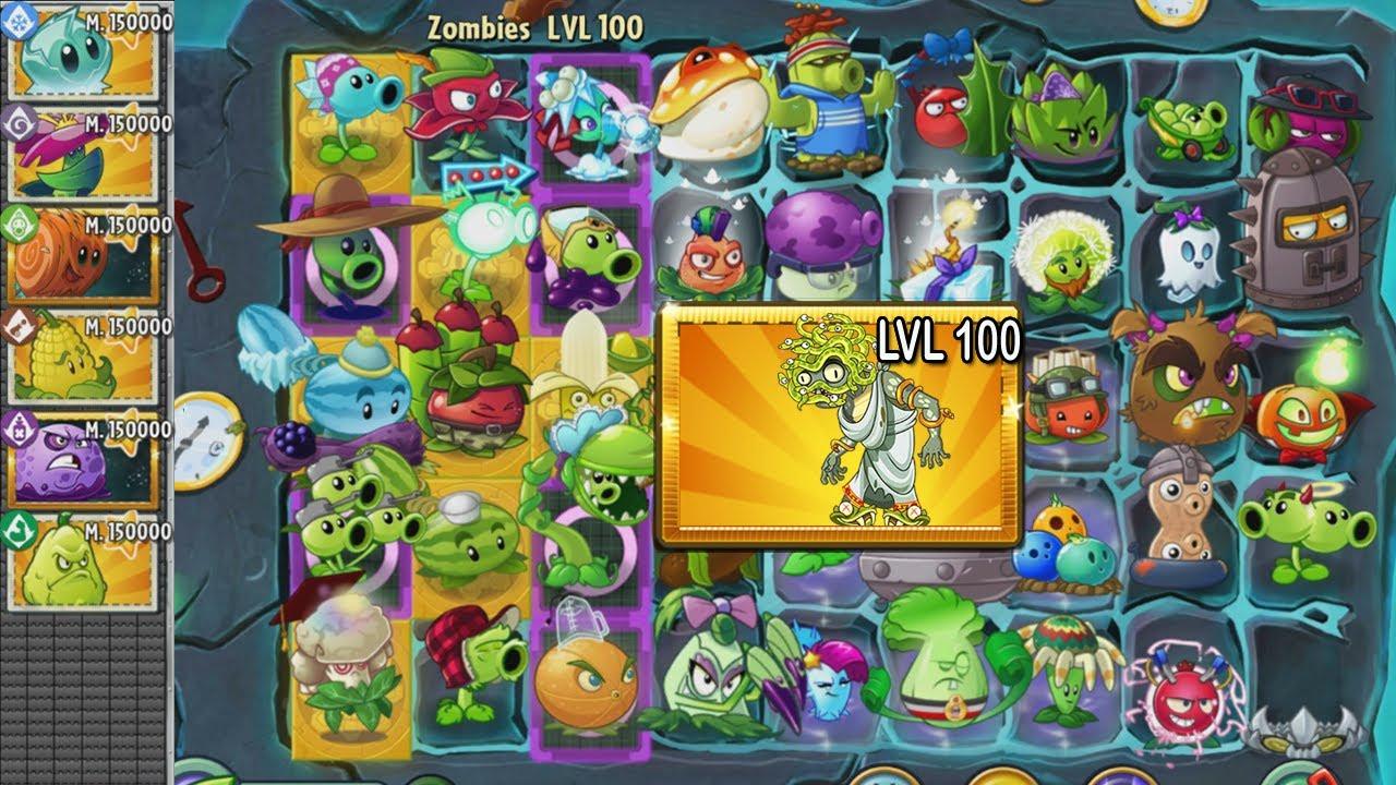 Plants vs Zombies 2 - Zombi Medusa NVL 100 vs Todas las Plantas