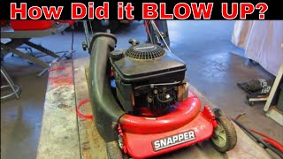 Snapper lawn Mower. Why Did It Fail? lets find out.