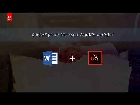 Adobe Sign for Microsoft Word & PowerPoint