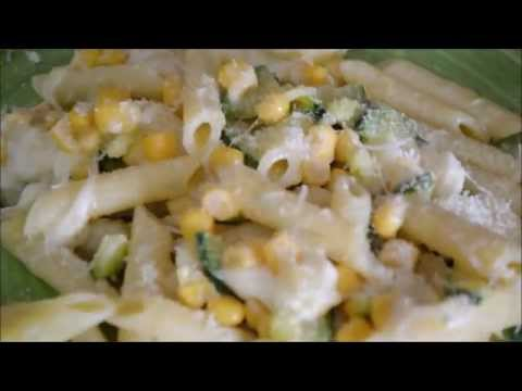 Pasta con Zucchine,Mais e Provola! - Facile & Veloce