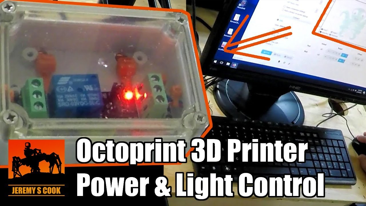 Adding 3D Printer Power And Light Control To OctoPrint