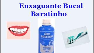 Beneficios da água oxigenada na boca