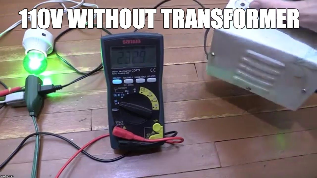 110v Without A Step Down Transformer Youtube