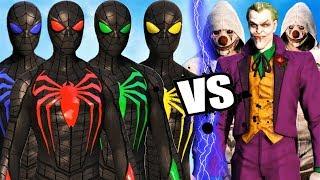Team Spider-Man (Anti Oak Suits)  vs Joker and Joker Thugs - Epic Battle