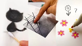 Awesome Yet Easy Draẁing Tricks. Simple Drawing Ideas