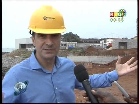 Le PrAC sur le chantier de l'hotel Noon à Kaloum