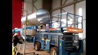 видео монтаж промышленной вентиляции