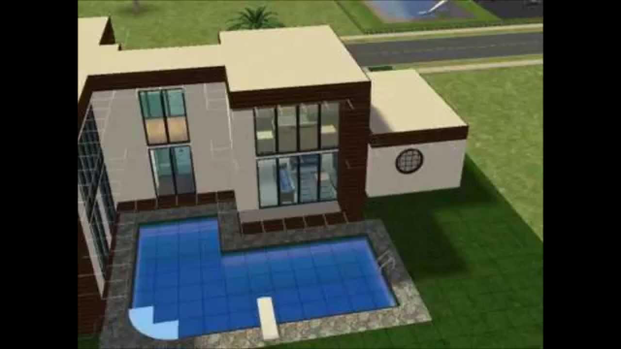 Tutoriel maison moderne sims 2 - YouTube