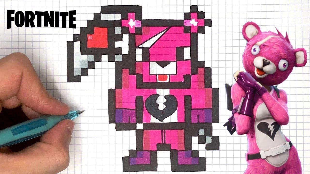Como Desenhar Urso Fortnite Pixel Art