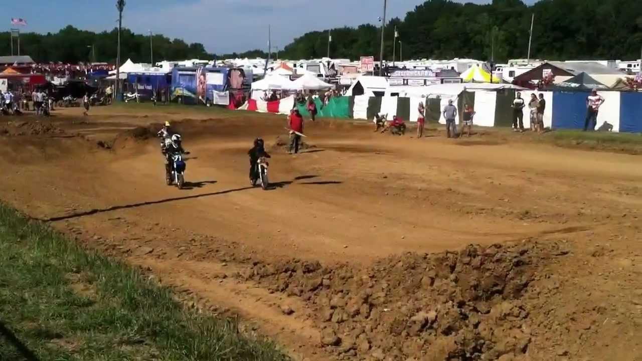 2012 Summit County Fair Kids 50cc Dirt Bike Race Youtube