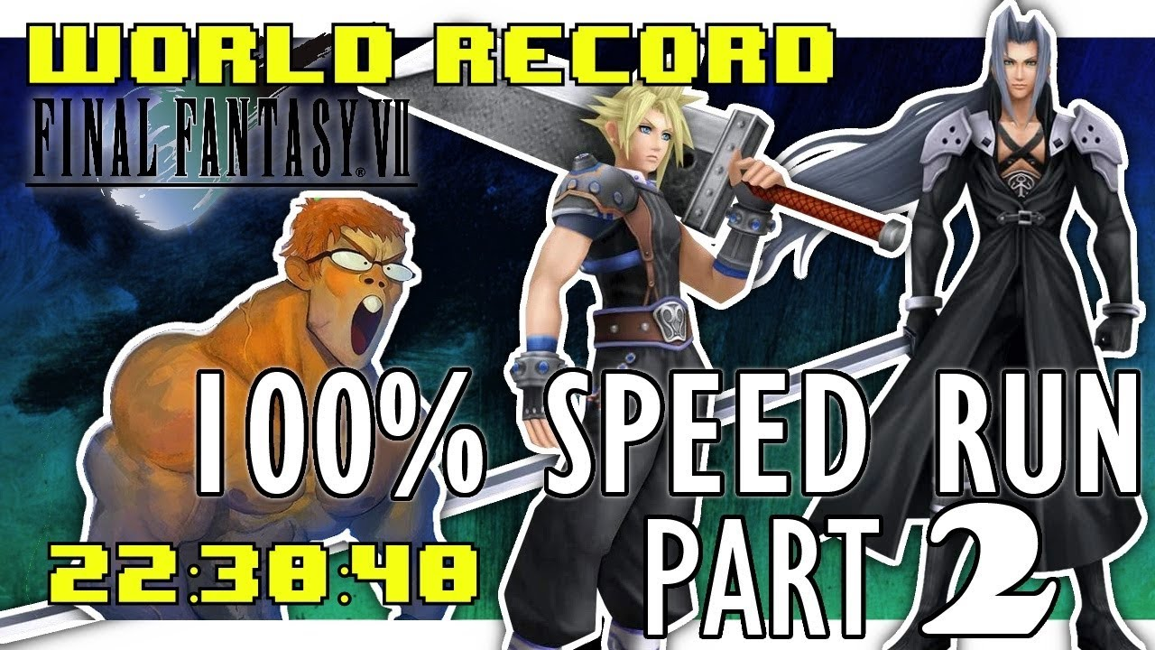 Final Fantasy Vii Psx 100 In 22 30 40 New World Record Part 2 Of 2