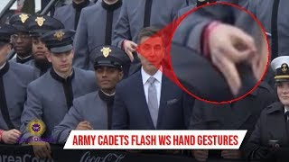Army Cadets Caught On Live TV Using WS Hand Gestures