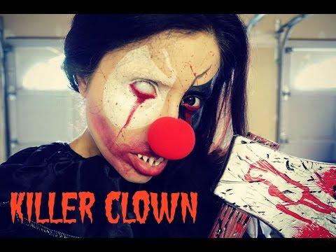 Killer Clown Makeup Tutorial - Halloween 2016