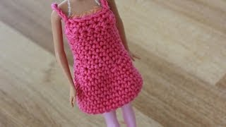 Crochet Barbie Dress Tutorial Pattern - Left Handed