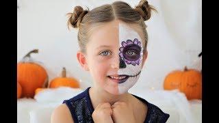 Sugar Skull Face - Kids Halloween Make-Up