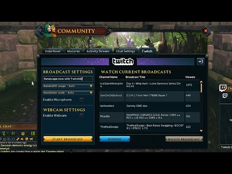 RuneScape Twitch Integration - Livestreaming Made Easy!