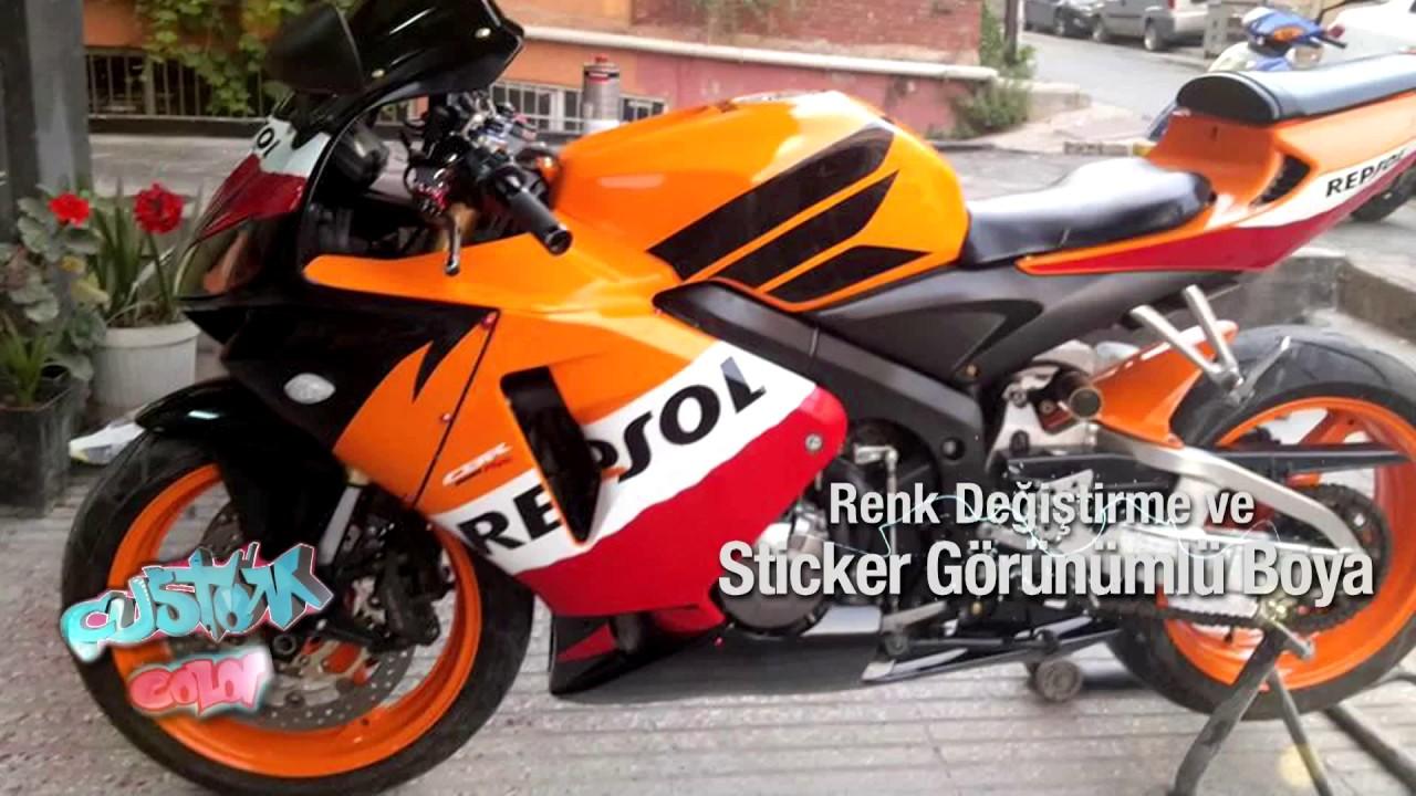Custom Color Motosiklet Boyama Işlemleri Youtube