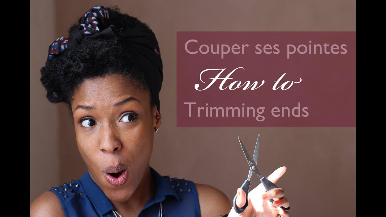 Couper les pointes de ses cheveux crepus