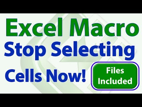 Excel VBA Tip - Stop Selecting Cells!