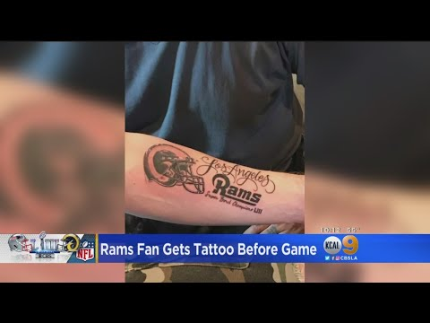 SHROOM - Rams Fan Gets Super Bowl Victory Tattoo