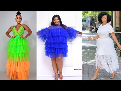 SUPER STUNNING STYLES YOU CAN MAKE WITH TULLE FABRIC #AFRICAN FASHION