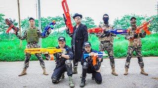 LTT Nerf War : Couple SEAL X Warriors Nerf Guns Fight Criminal Group Dr Lee Raid Mission