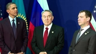President Obama Makes a Trilateral Announcement with the Presidents of Russia and Kazakhstan
