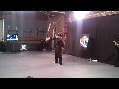 Noah Ringer Live Staff Weapon Demo  The Last Airbender