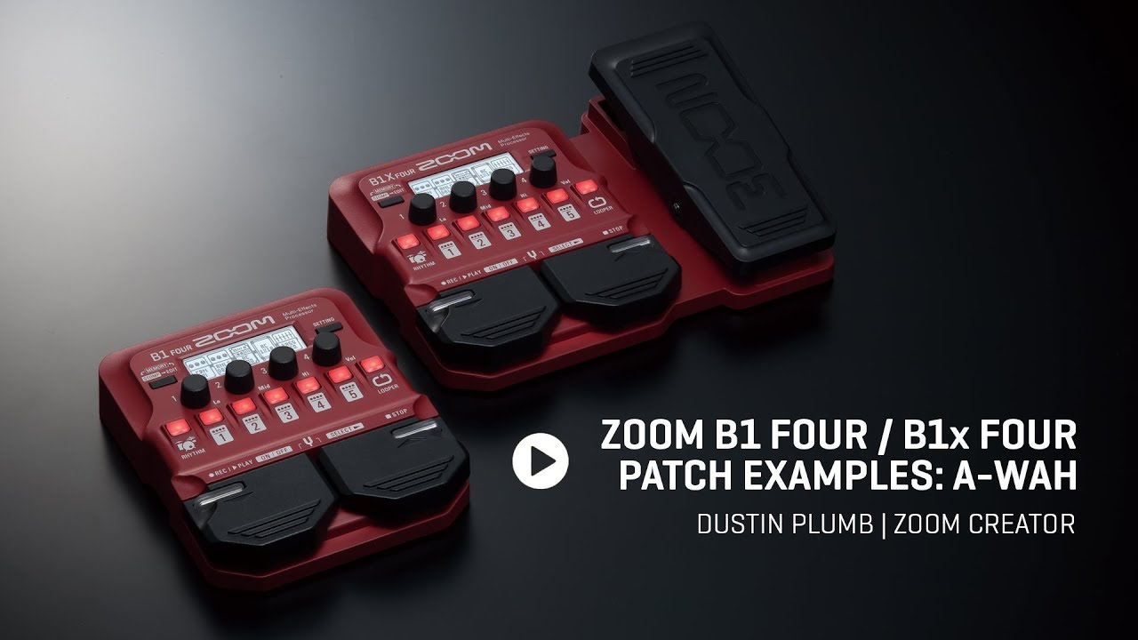 Zoom B1 FOUR / B1X FOUR Bass Multi-Effects Processors | Zoom