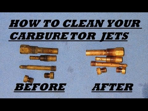 How to clean motorcycle carburetor jets with vinegar